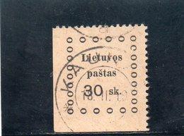 LITUANIE 1919 O - Lituanie