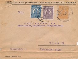 Lettre Roumanie Timisoara Pour Wien Cover Romania - Covers & Documents