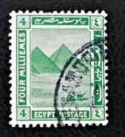 PROTECTORAT BRITANNIQUE - PYRAMIDE DE GIZEH 1922 - OBLITERE - YT 59 - Égypte