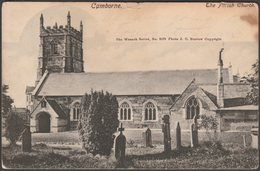 The Parish Church, Camborne, Cornwall, 1903 - JC Burrow Postcard - England