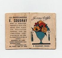 Petit Calendrier Chromo E. Coudray Parfums De Luxe 36 Pages 1926 - Calendars