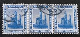 PROTECTORAT BRITANNIQUE - COLOSSE DE MENNON 1922 - BANDE HORIZONTALE OBLITEREE- YT 62 - 1915-1921 Protectorat Britannique