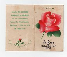 Petit Calendrier Carte Parfumée La Rose De Chéramy 1938 - Petit Format : ...-1900