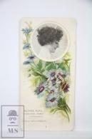 Old Modernist Trading Card / Chromo Flower - Blue Cornflower & Model - Jaime Boix Nº 1 - Documentos Antiguos