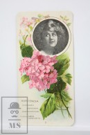 Old Modernist Trading Card / Chromo Flower - Hydrangea & Model - Jaime Boix Nº 3 - Documentos Antiguos