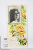 Old Modernist Trading Card / Chromo Flower - Indian Rose & Model - Jaime Boix Nº 4 - Documentos Antiguos
