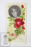 Old Modernist Trading Card / Chromo Flower - Red Rose & Model - Jaime Boix Nº 5 - Documentos Antiguos