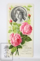 Old Modernist Trading Card / Chromo Flower - Hundred Leaf Rose & Model - Jaime Boix Nº 6 - Documentos Antiguos