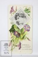 Old Modernist Trading Card / Chromo Flower -  Bellflower & Model - Jaime Boix Nº 7 - Documentos Antiguos