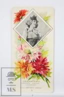 Old Modernist Trading Card / Chromo Flower - Chrysanthemum & Model - Jaime Boix Nº 8 - Documentos Antiguos
