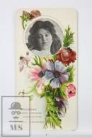 Old Modernist Trading Card / Chromo Flower -  Anemone & Model - Jaime Boix Nº 9 - Documentos Antiguos