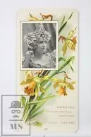 Old Modernist Trading Card / Chromo Flower -  Daffodil & Model - Jaime Boix Nº 12 - Documentos Antiguos