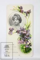 Old Modernist Trading Card / Chromo Flower -  Violet & Model - Jaime Boix Nº 13 - Documentos Antiguos