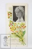 Old Modernist Trading Card / Chromo Flower -  Mignonette & Model - Jaime Boix Nº 14 - Documentos Antiguos
