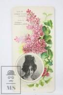 Old Modernist Trading Card / Chromo Flower -  Lilac & Model - Jaime Boix Nº 15 - Documentos Antiguos