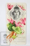 Old Modernist Trading Card / Chromo Flower -  Cyclamen & Model - Jaime Boix Nº 18 - Documentos Antiguos
