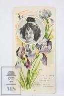 Old Modernist Trading Card / Chromo Flower -  Lily Iris & Model - Jaime Boix Nº 19 - Documentos Antiguos