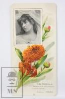 Old Modernist Trading Card / Chromo Flower -  Marigold & Model - Jaime Boix Nº 23 - Documentos Antiguos