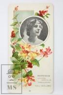 Old Modernist Trading Card / Chromo Flower -  Honeysuckle & Model - Jaime Boix Nº 25 - Documentos Antiguos