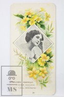 Old Modernist Trading Card / Chromo Flower -  Jasmine & Model - Jaime Boix Nº 28 - Documentos Antiguos