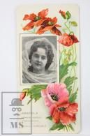 Old Modernist Trading Card / Chromo Flower -  Poppy & Model - Jaime Boix Nº 30 - Documentos Antiguos