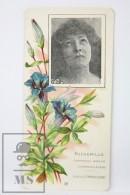 Old Modernist Trading Card / Chromo Flower - Canterbuty Bells & Model - Jaime Boix Nº 32 - Documentos Antiguos