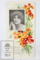 Old Modernist Trading Card / Chromo Flower - Yellow Wallflower & Model - Jaime Boix Nº 36 - Documentos Antiguos