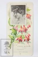 Old Modernist Trading Card / Chromo Flower - Fuchsia & Model - Jaime Boix Nº 38 - Documentos Antiguos