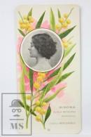 Old Modernist Trading Card / Chromo Flower - Mimosa & Model - Jaime Boix Nº 39 - Documentos Antiguos