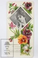 Old Modernist Trading Card / Chromo Flower - Pansy & Model - Jaime Boix Nº 40 - Documentos Antiguos