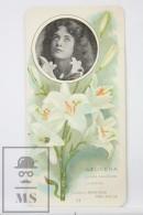 Old Modernist Trading Card / Chromo Flower - Lily & Model - Jaime Boix Nº 41 - Documentos Antiguos