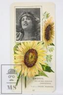 Old Modernist Trading Card / Chromo Flower - Sunflower & Model - Jaime Boix Nº 42 - Documentos Antiguos