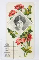 Old Modernist Trading Card / Chromo Flower - Geranium & Model - Jaime Boix Nº 45 - Documentos Antiguos