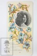Old Modernist Trading Card / Chromo Flower - Lasrkspur & Model - Jaime Boix Nº 46 - Documentos Antiguos