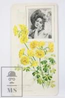 Old Modernist Trading Card / Chromo Flower - Oxalis (Buttercup) & Model - Jaime Boix Nº 63 - Documentos Antiguos
