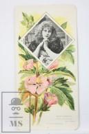 Old Modernist Trading Card / Chromo Flower - Marsh Mallow & Model - Jaime Boix Nº 74 - Documentos Antiguos