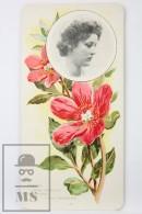 Old Modernist Trading Card / Chromo Flower - Peony & Model - Jaime Boix Nº 82 - Documentos Antiguos