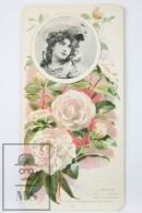 Old Modernist Trading Card / Chromo Flower - Camellia & Model - Jaime Boix Nº 83 - Documentos Antiguos