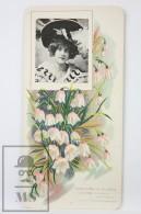 Old Modernist Trading Card / Chromo Flower - White Bellflower & Model - Jaime Boix Nº 87 - Documentos Antiguos