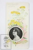 Old Modernist Trading Card / Chromo Flower - Mexican Marigold & Model - Jaime Boix Nº 92 - Documentos Antiguos