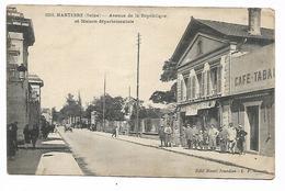 Cpa 9213364 Nanterre Avenue De La République Et Maison Départementale , Café-tabacs - Nanterre