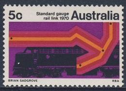 Australia 1970 Mi 431 YT 401 ** Sydney - Perth Standard Gauge Railway Link /  Eisenbahn-Standard-Spurweite - Treinen