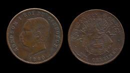 NORODOM I . 10 Centimes 1860 . - Cambodge