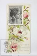 Old Modernist Trading Card / Chromo Flower -  Magnolia & Model - Jaime Boix Nº 25 - Documentos Antiguos
