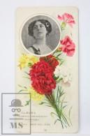 Old Modernist Trading Card / Chromo Flower - Carnation & Model - Jaime Boix Nº 33 - Documentos Antiguos