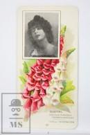 Old Modernist Trading Card / Chromo Flower - Foxgloves & Model - Jaime Boix Nº 48 - Documentos Antiguos