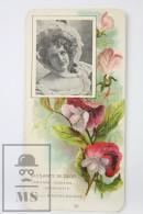 Old Modernist Trading Card / Chromo Flower - Sweet Pea & Model - Jaime Boix Nº 50 - Documentos Antiguos