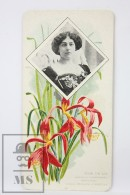Old Modernist Trading Card / Chromo Flower - Amaryllis Lis & Model - Jaime Boix Nº 52 - Documentos Antiguos