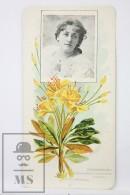 Old Modernist Trading Card / Chromo Flower - Rhododendron & Model - Jaime Boix Nº 55 - Documentos Antiguos