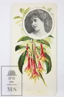 Old Modernist Trading Card / Chromo Flower - Fuchsia & Model - Jaime Boix Nº 57 - Documentos Antiguos